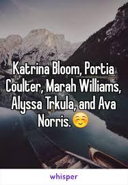 Katrina Bloom, Portia Coulter, Marah Williams, Alyssa Trkula, and Ava Norris .☺️