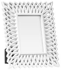 flute filigree effect freestanding 10x15 cm single photo frame white
