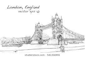 architectural drawings of bridges. Perfect Bridges Cityscape Drawing Sketch Tower Bridge London England Illustration Vector To Architectural Drawings Of Bridges