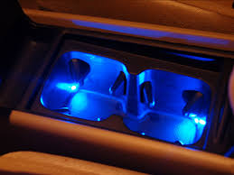 diy ambient lighting cup holder under the dash and the change pocket