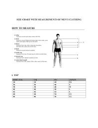 J Crew Men S Shirt Size Chart Size Chart J Crew