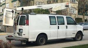 gmc truck ton buy or sell heavy equipment in british columbia 2000 gmc savana 3500 bucket truck van 37ft 25900