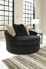 Round Swivel Chair Living Room Great Black Swivel Chairs For Living Room With Black And White