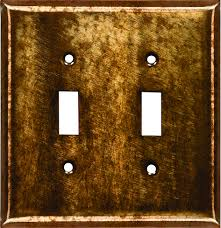 copper patina switch plates light t7