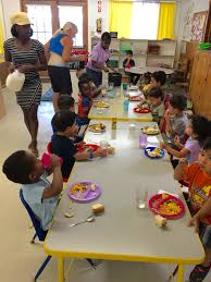 preschool lunch table. Lunch Time At Community Day Preschool Table O