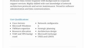 data center engineer resumes 6 tips on writing a killer data center engineer resume