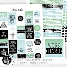 Workout Quotes Beauteous Motivational FITNESS QUOTES Workout Weight Planner Stickers Etsy
