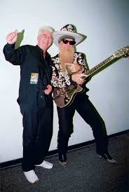 He received a similar hat while in cameroon as a trade with the chief for his cowboy hat. Billy Gibbons Duesenberg