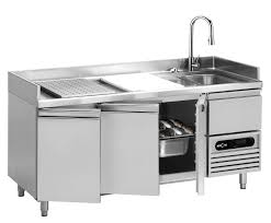 fish prep table stainless steel refrigerated with sink p1 1755 mercatus s a