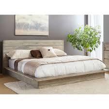king platform bed. Perfect Bed WhiteWashed Modern Rustic King Platform Bed  Renewal Inside T