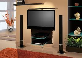 Tv Stand With Floating Glass Shelves