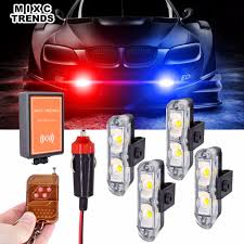 Automotive Led Light Controller Us 16 63 51 Off 4pcs Strobe Led Lights Wireless Remote Controller Flashing Warning Car Lights Mini Flasher Led Emergency Mini Police Light Bar In