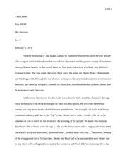 the scarlet letter essay draft leon yhalit leon eng iii ap ms  5 pages the scarlet letter essay 2nd copy