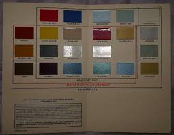 Ford Xf Series Colour Chart Printed July 1985 Ford Austral