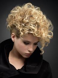 short and blonde curly hair