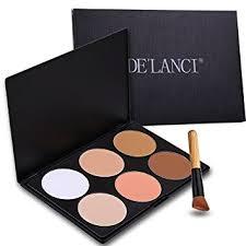 fivebull professional 6 warm color cosmetic foundation concealer camouflage contour makeup palette set face contouring kit