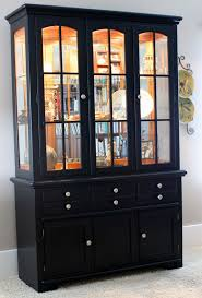 ideas china hutch decor pinterest: problem old oak hutch solution black paint outcome a transformation worthy of a double take see the entire post over at dirt cheap decoration