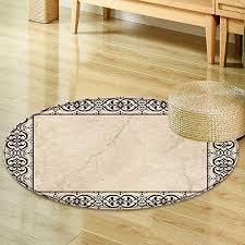 small round rug carpet marble floor door mat indoors bathroom mats non slip round 55