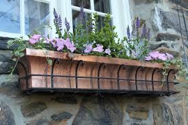 Lawn & Garden:Copper Boxes Hang Over Window For Attractive Garden House  Decor Idea Garden