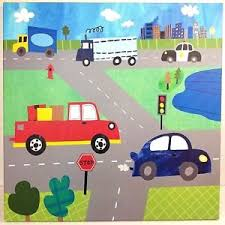 image is loading transportation busy roads oopsy daisy too canvas art  on oopsy daisy transportation wall art with transportation busy roads oopsy daisy too canvas art truck police