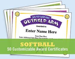 Free Printable Softball Certificates Softball Certificates Award Templates And Coaching Forms