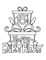 Happy birthday coloring pages 119. Free Printable Birthday Coloring Pages