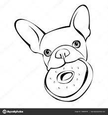 Tekening Van Pitbull Hond Geïsoleerd Op Een Witte Achtergrond Nieuwe