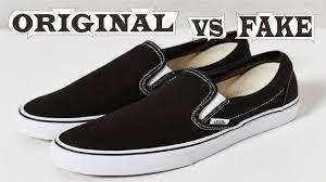 Fake Vans Vans Slip On Black White Original Fake