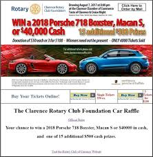 2018 porsche raffle. beautiful 2018 clarence rotary club foundation 8072017 raffle  2018 porsche 718 boxster with porsche oldcarrafflecom