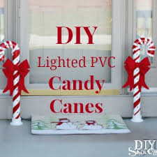 Outdoor Christmas Decorations Candy Canes Lighted PVC Candy Canes DIY Christmas Home Decor DIY Show Off 18