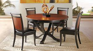 round dining room table images. orland park black 5 pc round dining set room table images