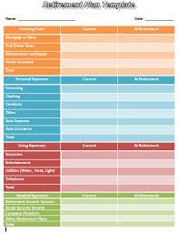 Retirement Plan Template | Printable Templates
