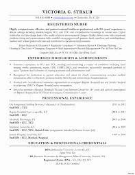 Lpn Travel Nurse Sample Resume Rn Sample Resume Fresh Sample Registered Nurse Resume Best Nursing 17
