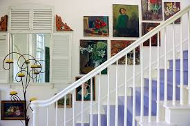 view in gallery wall art adds to the shabby chic style of the staircase in white design  on stairway wall art with 11 fabulous staircases that exude shabby chic panache