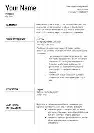 Resume Format Template Magnificent Resume Format Template Musiccityspiritsandcocktail
