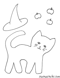 Small Picture Halloween Cat Colouring Pages Black Cat Halloween Coloring Pages