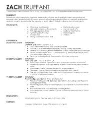 Collection Of Solutions Simple Esthetician Resume And Cover Letter