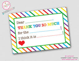 Blank Thank You Notes 8 Birthday Thank You Notes Free Sample Example Format