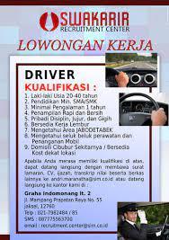 Temukan karir pekerjaan supir di kota sumatera utara, medan dan lowongan kerja yang serupa disini. Lowongan Kerja Driver Kaskus