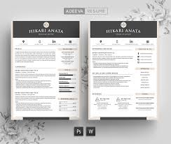 Simple Resume Template Anata Resume Templates Creative Market