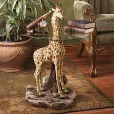 giraffe furniture. Furniture And Fabrics: African Safari Oriented Is Often Adorned In An Assortment Of Animal Hides, Including Leather, Leopard Spots, Zebra Stripes, Giraffe