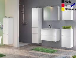 Badezimmer Britt 20 Weiß 6 Teilig Waschtisch 3d Spiegelschrank Led