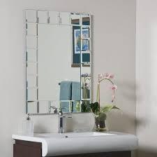 beveled glass framed bathroom mirrors