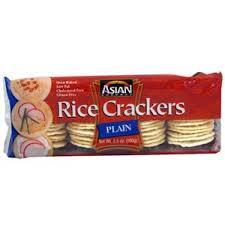 Asian gourmet rice crackers
