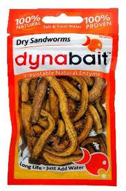 Sandworm Size Chart Dynabait Freeze Dried Sandworms