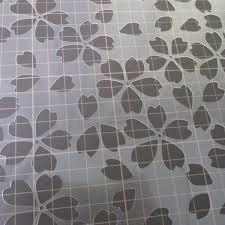 桜⑦番 桜吹雪 花びら ステンシルシート 型紙図案 No557