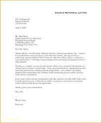 Referral Letters Sample Medical Referral Letter Template