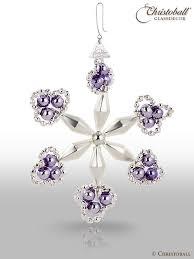 Gablonzer Anhänger Diamant Stern Silber Lila