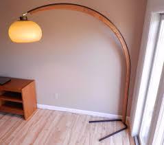 Vintage Mod Era Metal Wood Arc Floor Lamp Arch Nova Lighting Of