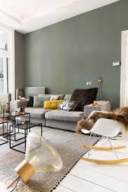 Kleuren Wanden Woonkamer Indrukwekkend Grijsgroene Kleur Op Muur